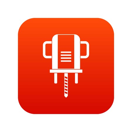 Boer drill icon digital red for any design isolated on white vector illustration