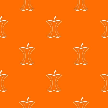 Apple stump pattern repeat seamless in orange color for any design. Vector geometric illustration Illustration