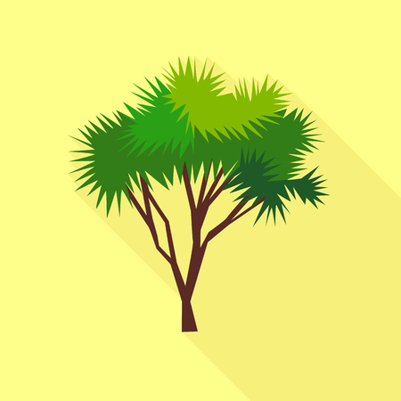 Nadel-Palme-Symbol. Flache Illustration der NadelPalmen-Vektorikone für Netz