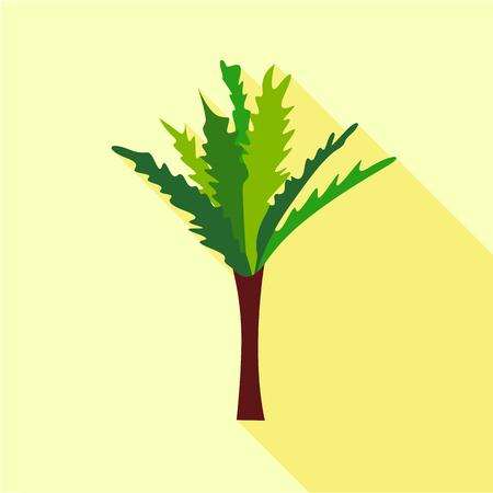 High palm tree icon. Flat illustration of high palm tree vector icon for web Illustration