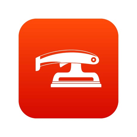 Fret saw icon digital red for any design isolated on white vector illustration