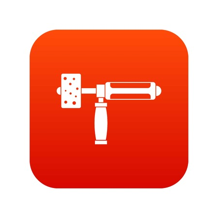 Precision grinding machine icon digital red for any design isolated on white vector illustration Illustration