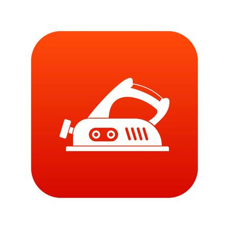 Jack plane icon digital red for any design isolated on white vector illustration