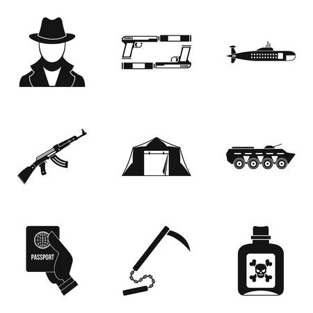 delinquent: Delinquent icons set. Simple set of 9 delinquent vector icons for web isolated on white background