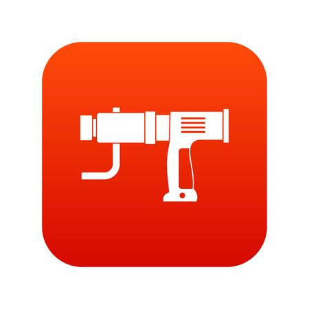 Hand drill icon digital red for any design isolated on white vector illustration