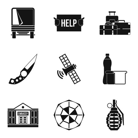 Felon icons set. Simple set of 9 felon vector icons for web isolated on white background