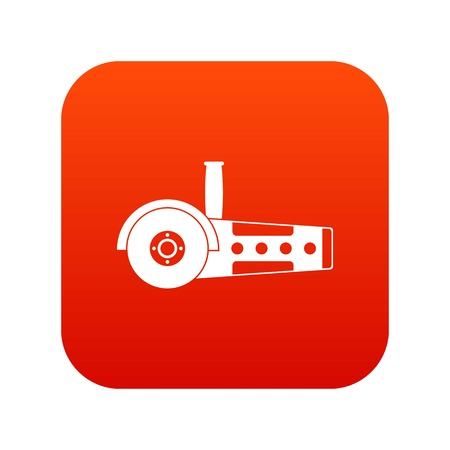 Circular saw icon digital red for any design isolated on white vector illustration