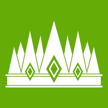Crown icon green Illustration