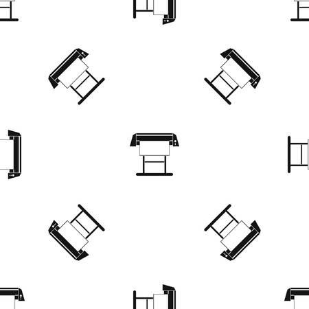 Large format inkjet printer pattern seamless black