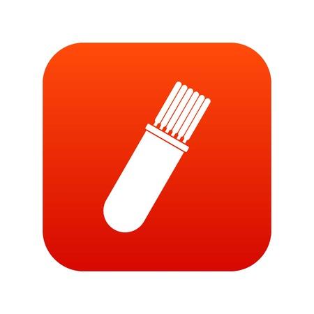 Welding Rods icon digital red Illustration