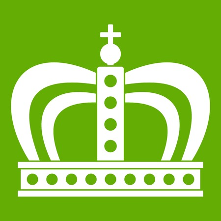 Monarchy crown icon green