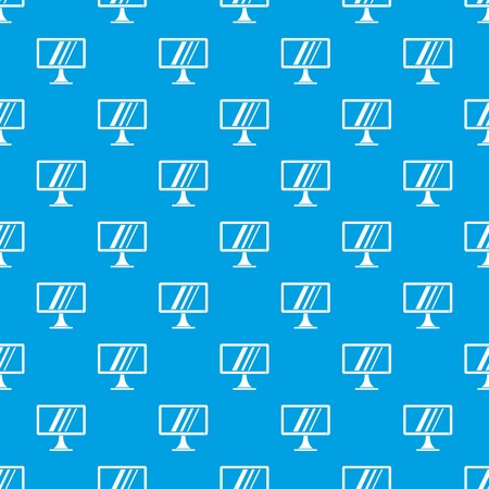 Computer monitor pattern repeat seamless in blue color for any design. Vector geometric illustration