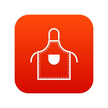 Welding apron icon digital red for any design isolated on white vector illustration Illustration