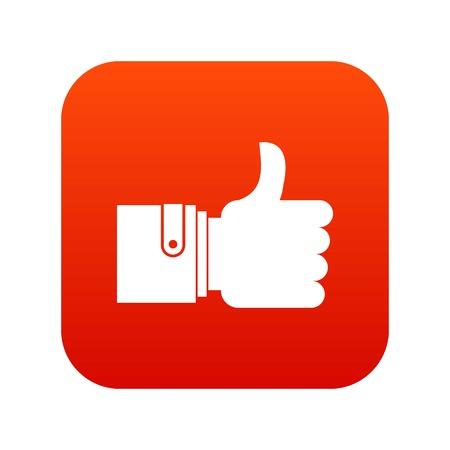 Like icon digital red