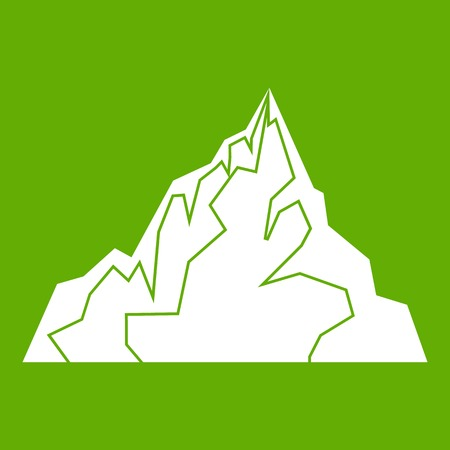 Iceberg icon green Illustration