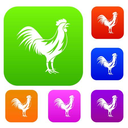 gallic: Gallic rooster set collection