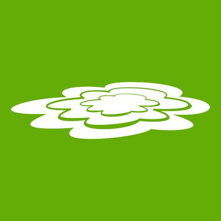 Water puddle icon white isolated on green background. Vector illustration