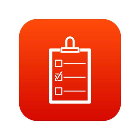 To do list icon digital red