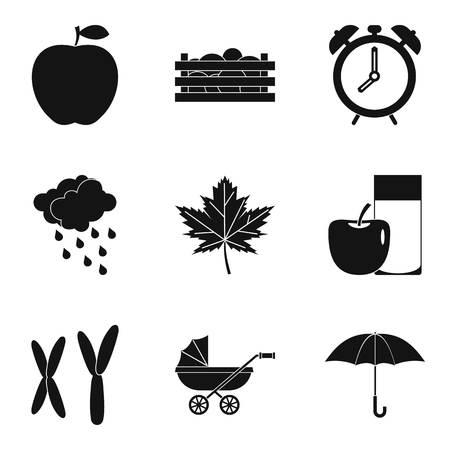 Chromosome icons set, simple style Illustration