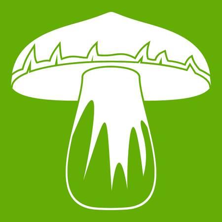 Forest mushroom icon green Illustration