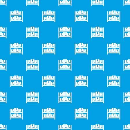 Opslag van goederen in naadloos blauw van het pakhuispatroon