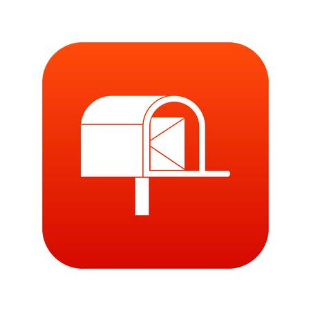 Mailbox icon digital red