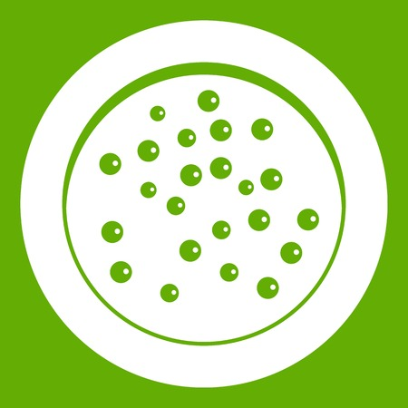 Peppercorns on a plate icon green Illustration