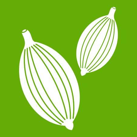 Cardamom pods icon green