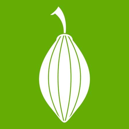 Black cardamom pod icon green