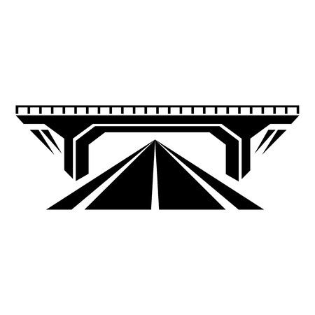 Icône de pont en béton, style noir simple