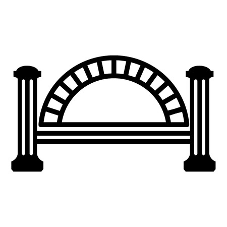 Metallic bridge icon. Simple illustration of metallic bridge vector icon for web