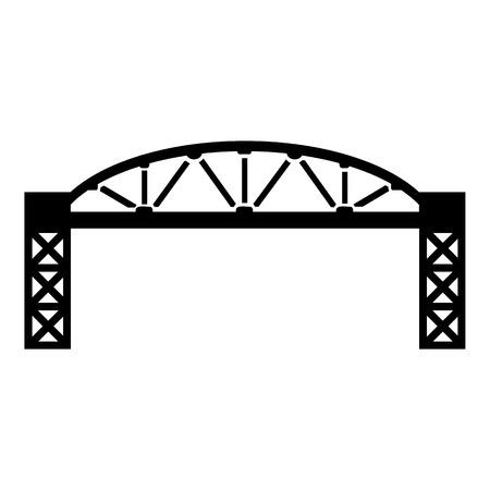 Metal bridge icon. Simple illustration of metal bridge vector icon for web