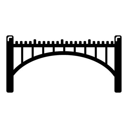 Road arch bridge icon. Simple illustration of road arch bridge vector icon for web