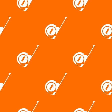 Roulette construction pattern repeat seamless in orange color for any design. Vector geometric illustration Illustration