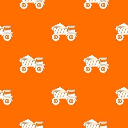 Dump truck with sand pattern seamless Illustration