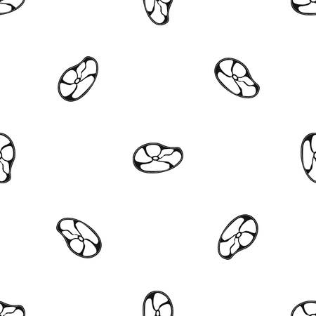 Steak pattern seamless black Illustration