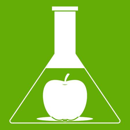 Test flask with apple icon green
