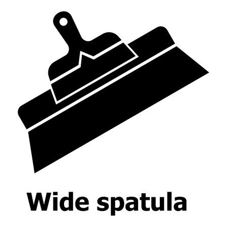 Breed spatelpictogram, eenvoudige zwarte stijl Stock Illustratie