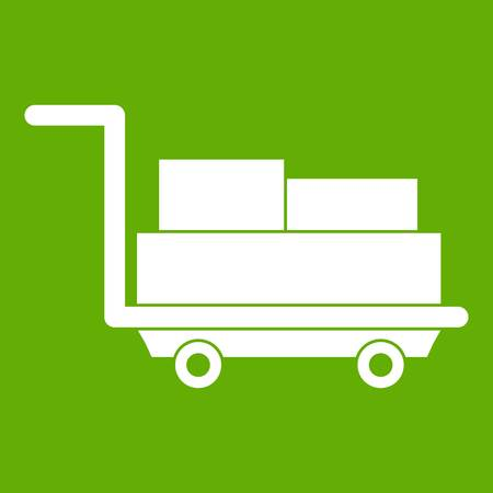 Cart with luggage icon green