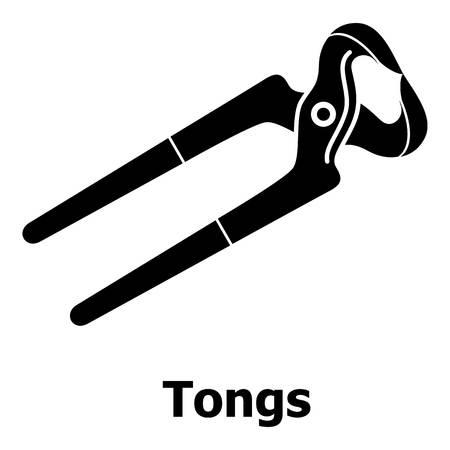 Tang icoon, eenvoudige zwarte stijl