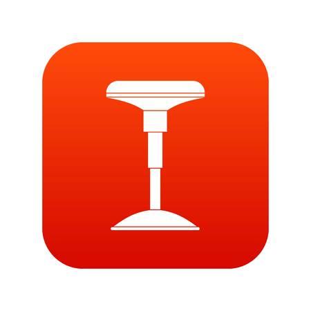 Bar stool icon digital red