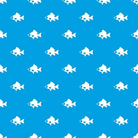 Fish pattern seamless blue Ilustração
