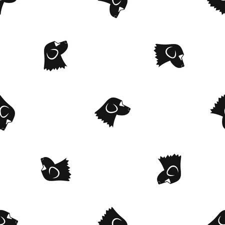 Beagle dog pattern seamless black Illustration