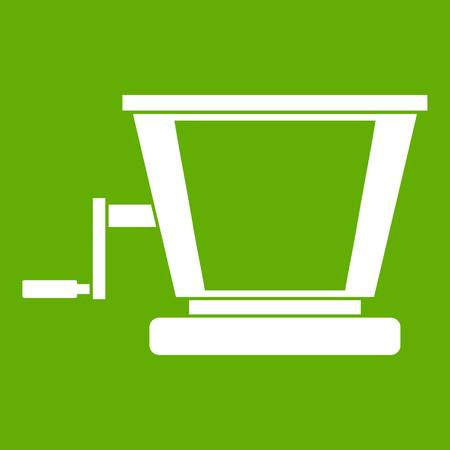 Old grape juicer icon green