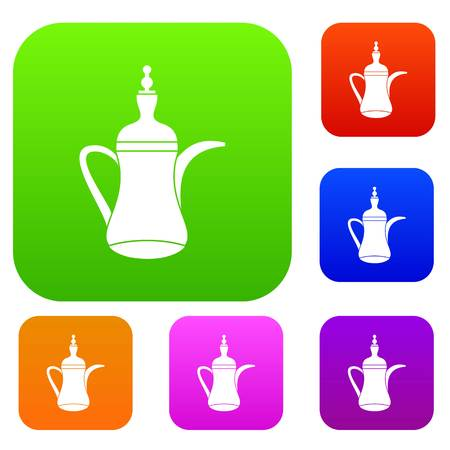 middle eastern food: Oriental teapot set collection