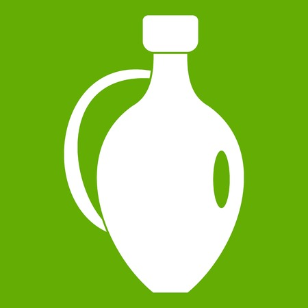 Clay jug icon green