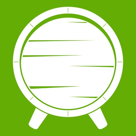 Barrel on legs icon green Illustration