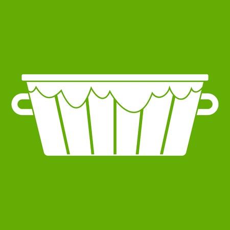 Wooden tub icon green Ilustração