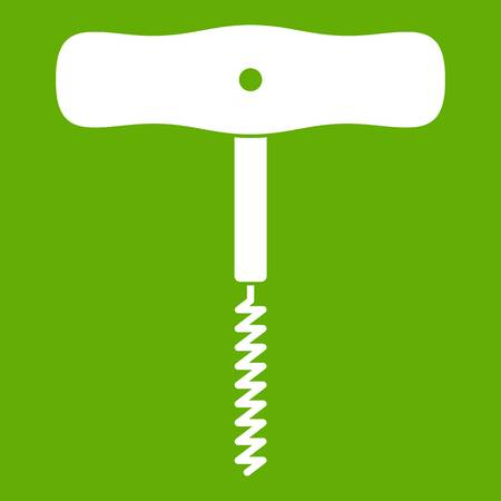 Corkscrew with a metal spiral icon green Illustration
