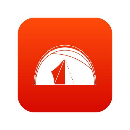 Dome tent icon digital red for any design isolated on white vector illustration